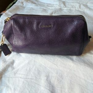 Handbags - Coach Leather Makeup Bag